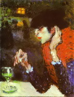 Pablo Picasso. The Absinthe Drinker, 1901
