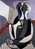 Pablo Picasso. Seated Woman, 1927