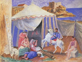 Pablo Picasso. Traveling circus, 1922