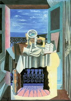 Pablo Picasso. Still life in a window in Saint-Raphael, 1919
