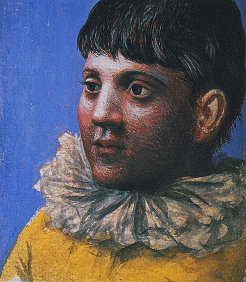 Pablo Picasso Teenager Portrait As Pierrot 1922