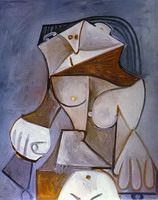 Pablo Picasso. Nude in an Armchair, 1959