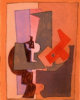 Pablo Picasso. The pedestal, 1914