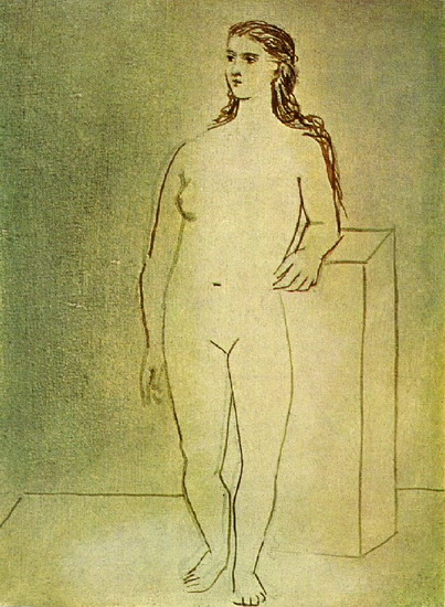 Pablo Picasso. Standing Female Nude, 1912