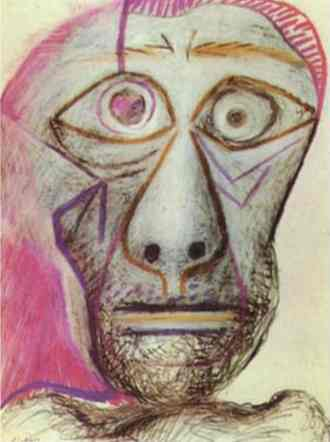 Pablo Picasso. Self-Portrait, 1972