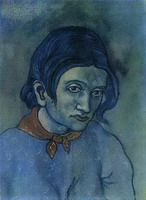 Pablo Picasso. Head of a Woman, 1902 - 1903