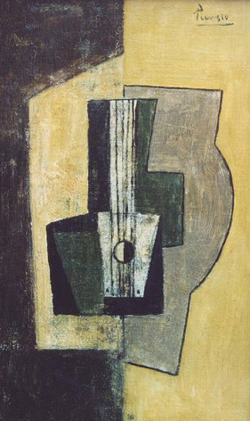 Pablo Picasso. still life with guitar, 1922