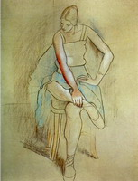 Dancer sitting (Olga Picasso)