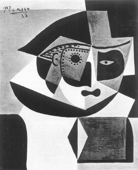 Pablo Picasso. Head of Harlequin, 1923