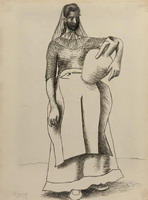 Woman with pitcher