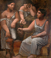 Three women at the fountain