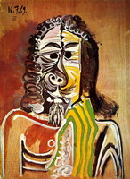 Pablo Picasso. Bearded Man, 1969