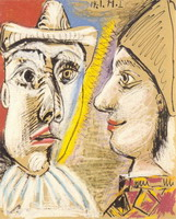 Pierrot and Harlequin profile