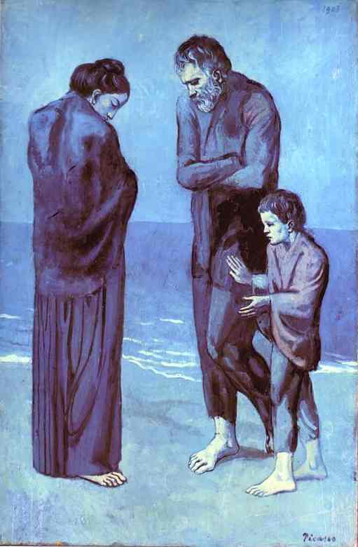 Image result for picasso blue period