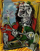 Pablo Picasso. Seated Man with a sword and a flower, 1969