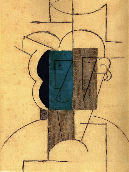 Pablo Picasso. Head man with a hat, 1912