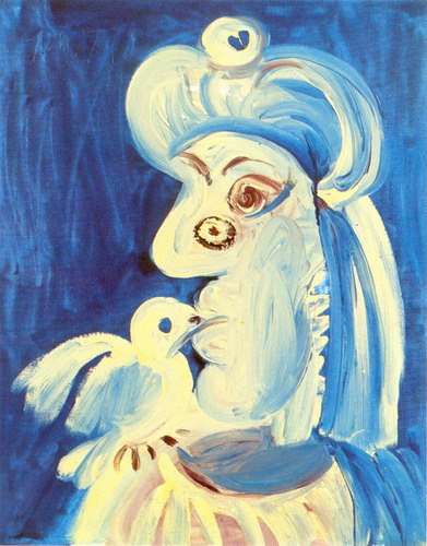 Pablo Picasso. Woman and l`oseau, 1971