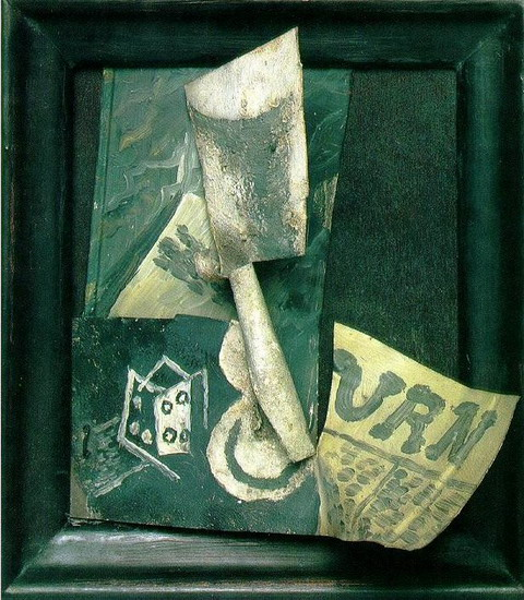 Pablo Picasso. Glass, and paper, 1914