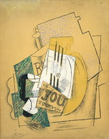 Pablo Picasso. The bottle of Bass [Journal], 1914