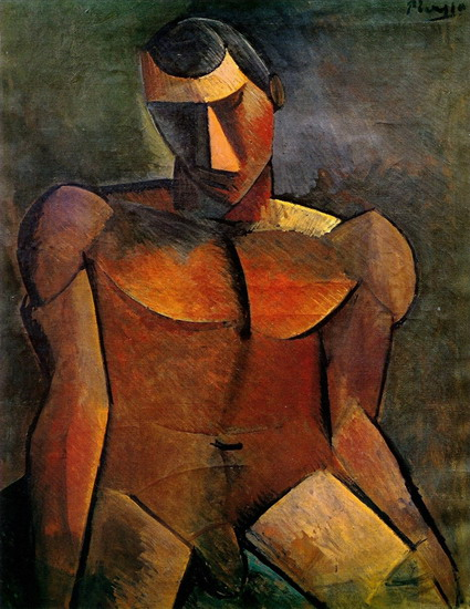 Pablo Picasso. Seated nude man, 1908