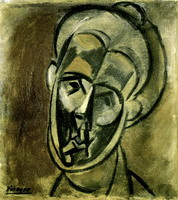 Pablo Picasso. Head of a Woman (Fernande Olivier), 1909