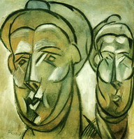 Pablo Picasso. Two female heads (Fernande Olivier), 1909