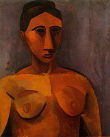 Pablo Picasso. Female bust, 1908