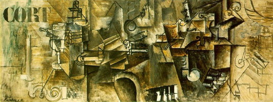 Pablo Picasso. Still life on a piano, 1911
