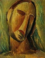 Pablo Picasso. Head of a Woman, 1908