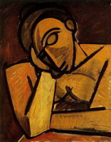 Pablo Picasso. Bust of a woman leaning (`Woman dormant`), 1908