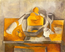 Pablo Picasso. Still Life with Brioche, 1909
