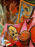 Pablo Picasso. Composition with Skull, 1908