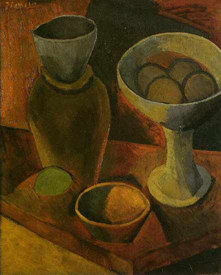 Pablo Picasso. Bowls and pitcher, 1908