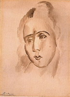 Pablo Picasso. Head of a Woman (Fernande), 1909