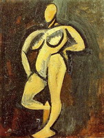Pablo Picasso. Standing Nude, 1908