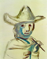 Pablo Picasso. The young painter, 1972