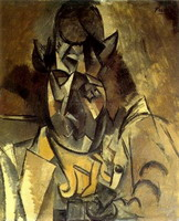 Pablo Picasso. Man with hat [Portrait Braque], 1909