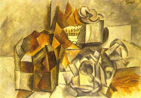Pablo Picasso. Box, fruit bowl, mug, 1909