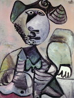 Pablo Picasso. Man sitting leaning [Musketeer], 1972