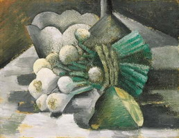 Pablo Picasso. Still life with onions, 1909