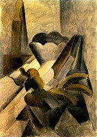 Pablo Picasso. Still Life with leather razor, 1909