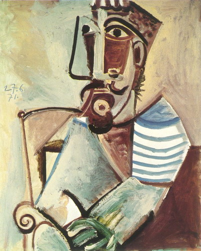 Pablo Picasso. Man sitting Bust, 1971
