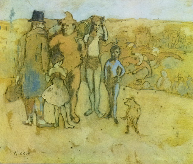 Pablo Picasso. Family of acrobats [study], 1905
