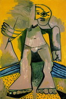 Pablo Picasso. standing bather, 1971