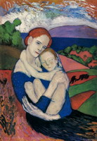 Mother and Child [The Maternity] [Mere holding the lad]