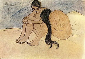 Pablo Picasso. Man and woman, 1902
