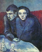 Pablo Picasso. Couple in cafe, 1903