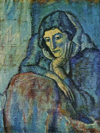 Pablo Picasso. Woman in Blue, 1901