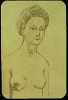 Pablo Picasso. Naked woman Bust, 1902