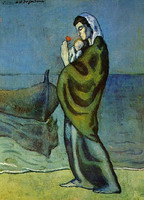 Pablo Picasso. Mother and child on the shore, 1902